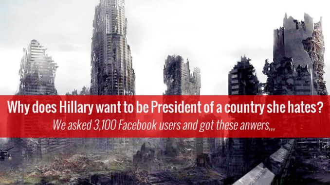 Hillary WANTS to Be President