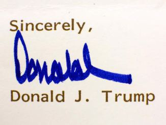 Personal Letter from Donald Trump