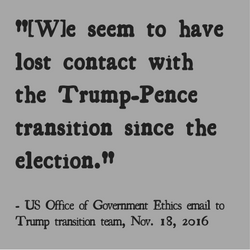 OGE laments that the Trump team was not in contact