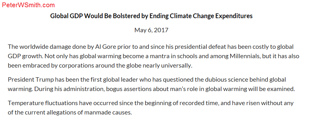 Peter Smith likens Al Gore to the antichrist in this blog entry from May 2017.