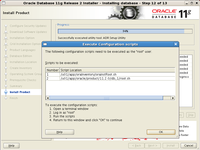 Install Oracle software 13