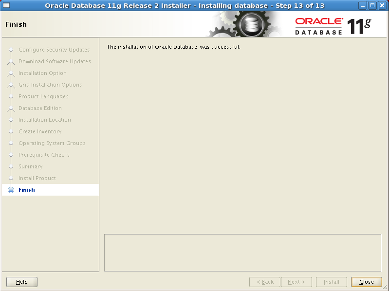 Install Oracle software 15