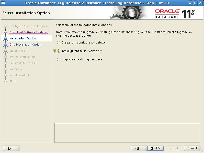 Install Oracle software 3
