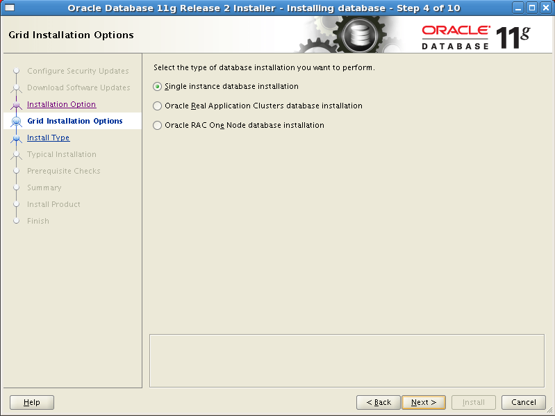 Install Oracle software 4