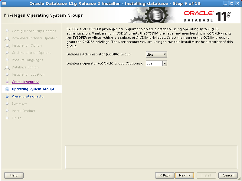 Install Oracle software 9