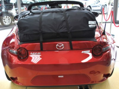 Miata ND Luggage Rack - bootbag fitted to red nd