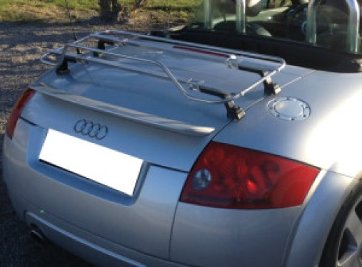 Modern Stainless Luggage Rack on TT Roadster