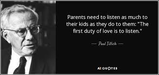 Parents should listen to their child.