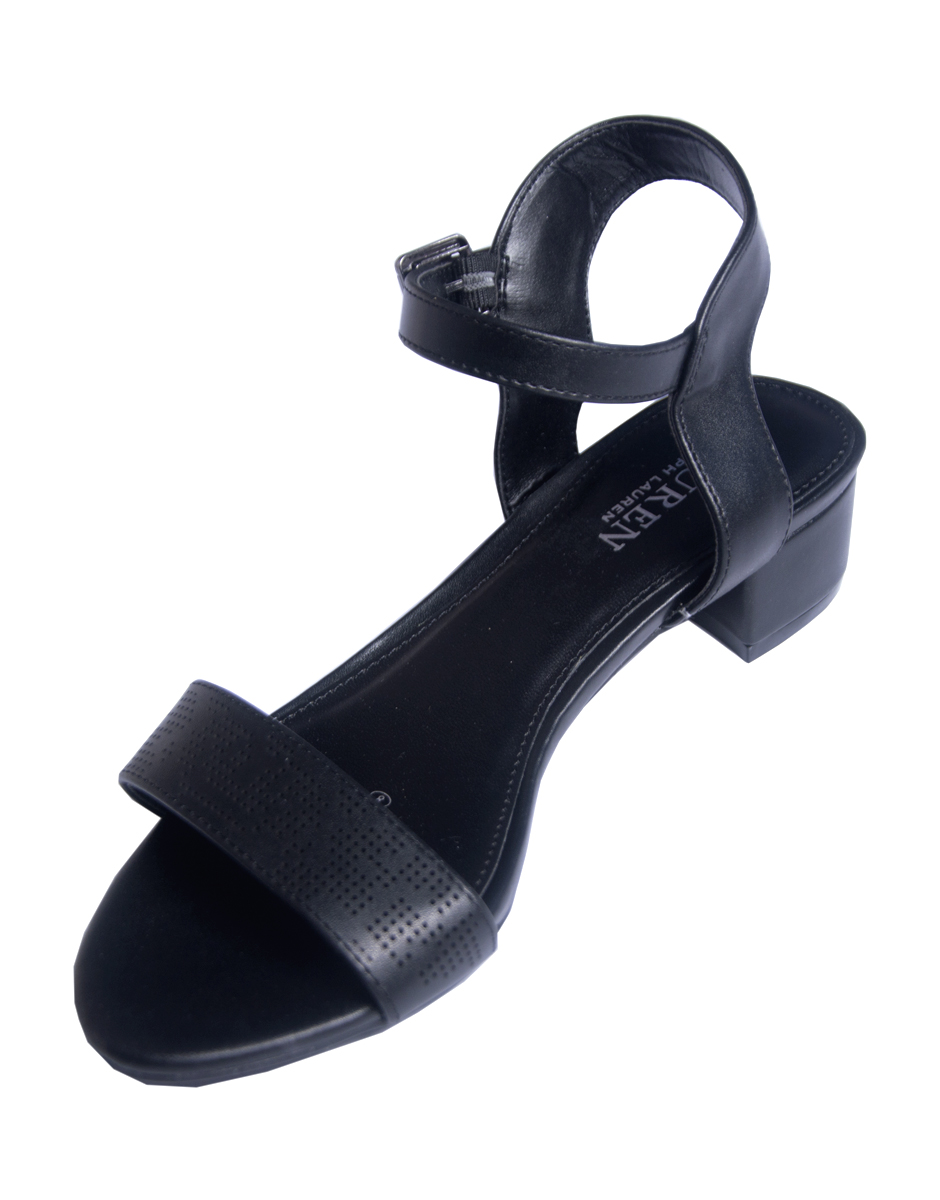 f267cf8f00 Edge Strappy kitten heels - Black - Trushoe