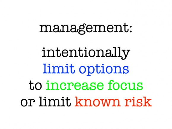 Management: Limits Options