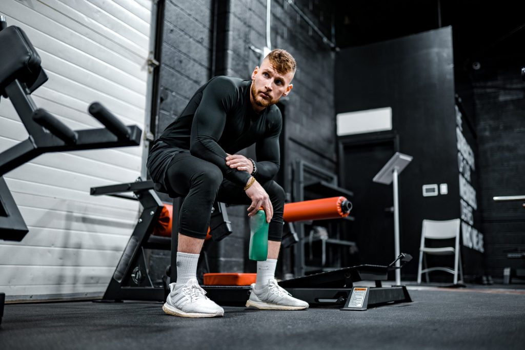 Fitness Training, Guy on Bench