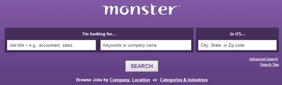 monster.com website