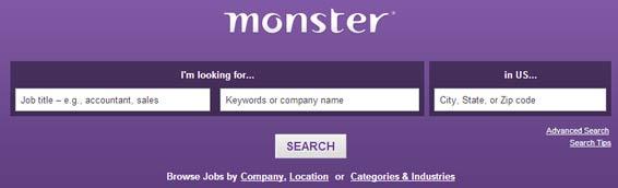 monster.com website