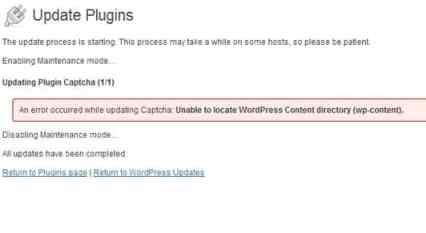 Unable to locate wordpress content directory (wp-content)