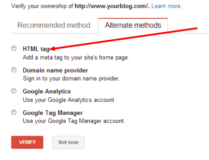 How to verify WordPress blog with Google Webmaster Tools