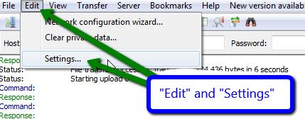 Filezilla login problem