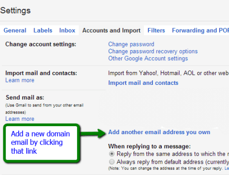 Redirect your website email to Google email