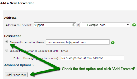 How to Forward a website email to Gmail