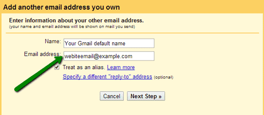 enter your domain email