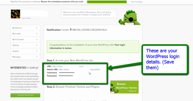 WordPress logins