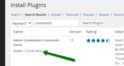 installing WordPress plugin