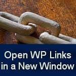 Make WordPress Links Open in a New Window
