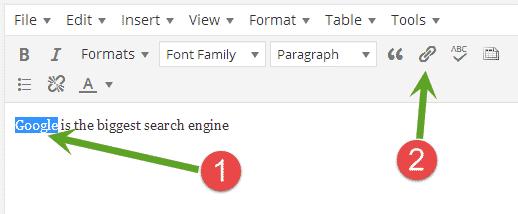 open WordPress links in a new window