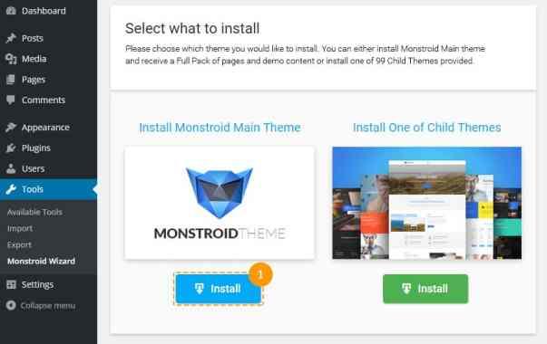 Main theme install