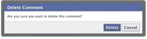Delete a comment on Facebook