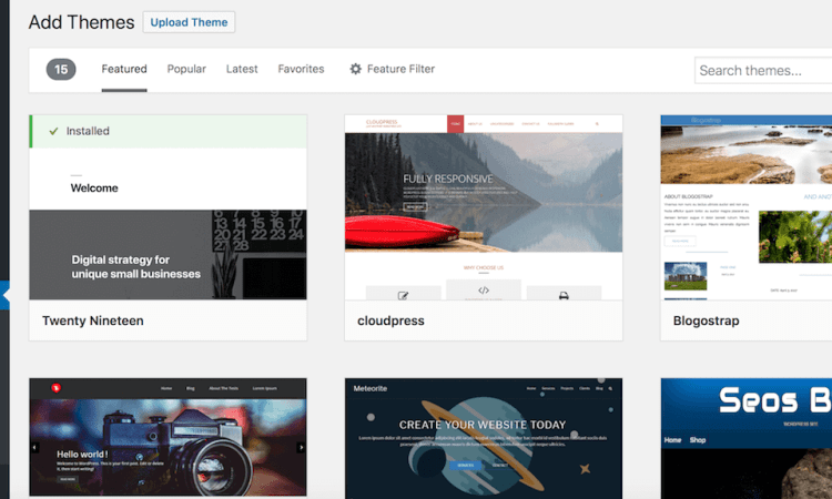 Buy and Install a WordPress Theme