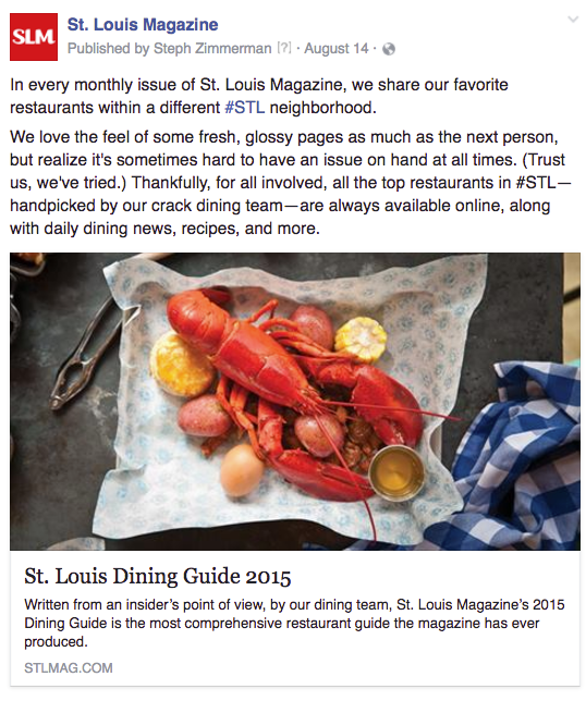 STL online dining guide general