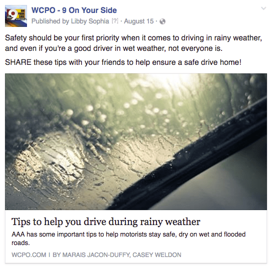 WCPO weather driving