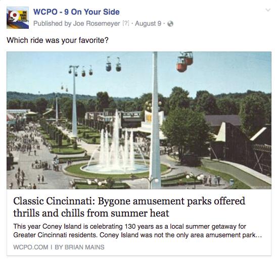 WCPO amusement parks