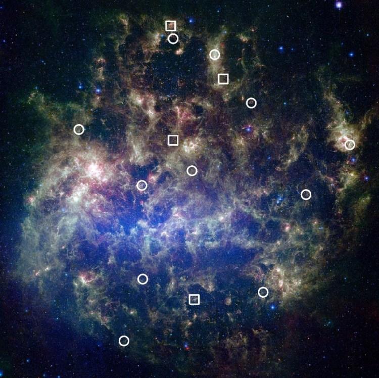 15 étoiles amas stellaire découverte jeunes formation