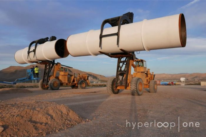 hyperloop one système transport révolutionnaire futur pose construction