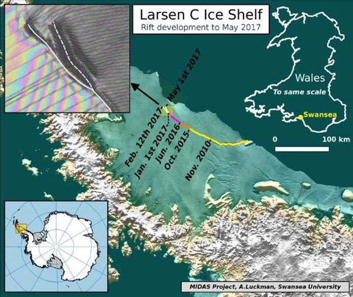 barriere de glace larsen c antarctique