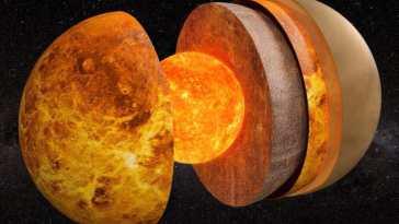 Des chercheurs déterminent la taille du noyau de Vénus pour la première fois!