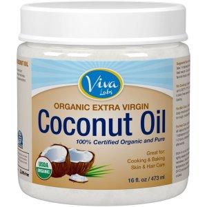 1.Viva Labs Organic Extra Virgin Coconut Oil, 16 Ounce