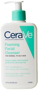 2.CeraVe Foaming Facial Cleanser, 12 Ounce