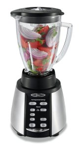 7.Oster BVCB07-Z Counterforms 6-Cup Glass Jar 7-Speed Blender