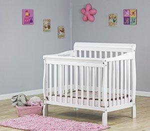 4.Dream On Me 4 in 1 Aden Convertible Mini Crib, White