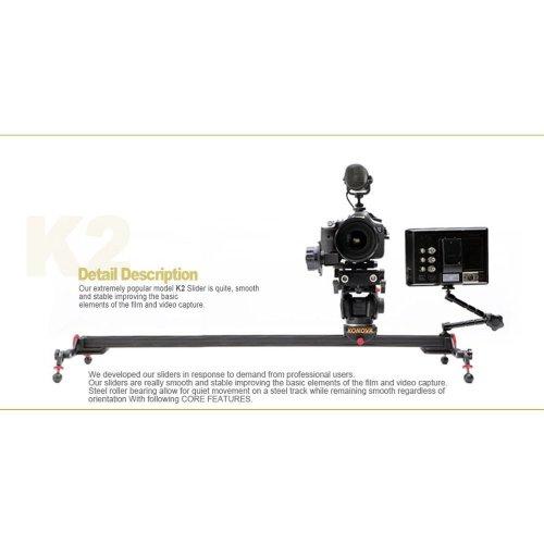 3.Konova Camera Slider Dolly K2 80cm (31.5 Inch)