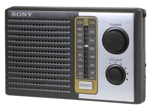 4. Sony 2 Band Receiver Portable AM & FM Transistor Radio