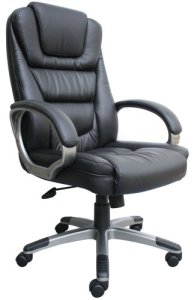1.Boss Black LeatherPlus Executive Chair