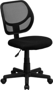 2.Flash Furniture Mid-Back Black Mesh Computer Chair