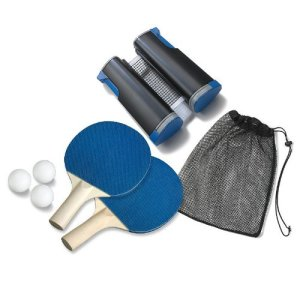 6. The Black Series by Shift3 Retractable Table Tennis Set