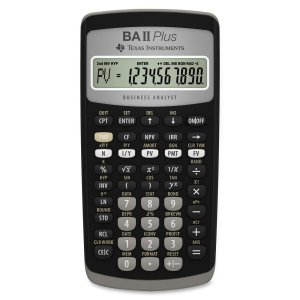 7. Texas Instruments BA II plus Financial Calculator