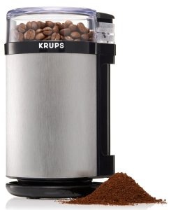 9. KRUPS Electric Spice Herbs and Coffee Grinder with Stainless Steel Blades and Housing