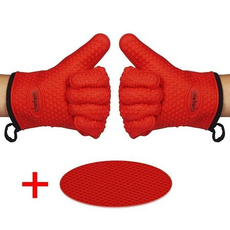 Chefaith Silicone Kitchen Gloves