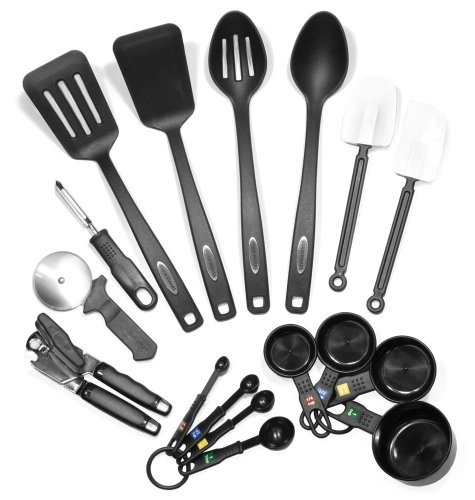 1.Farberware Classic 17-Piece Kitchen Cooking Utensils